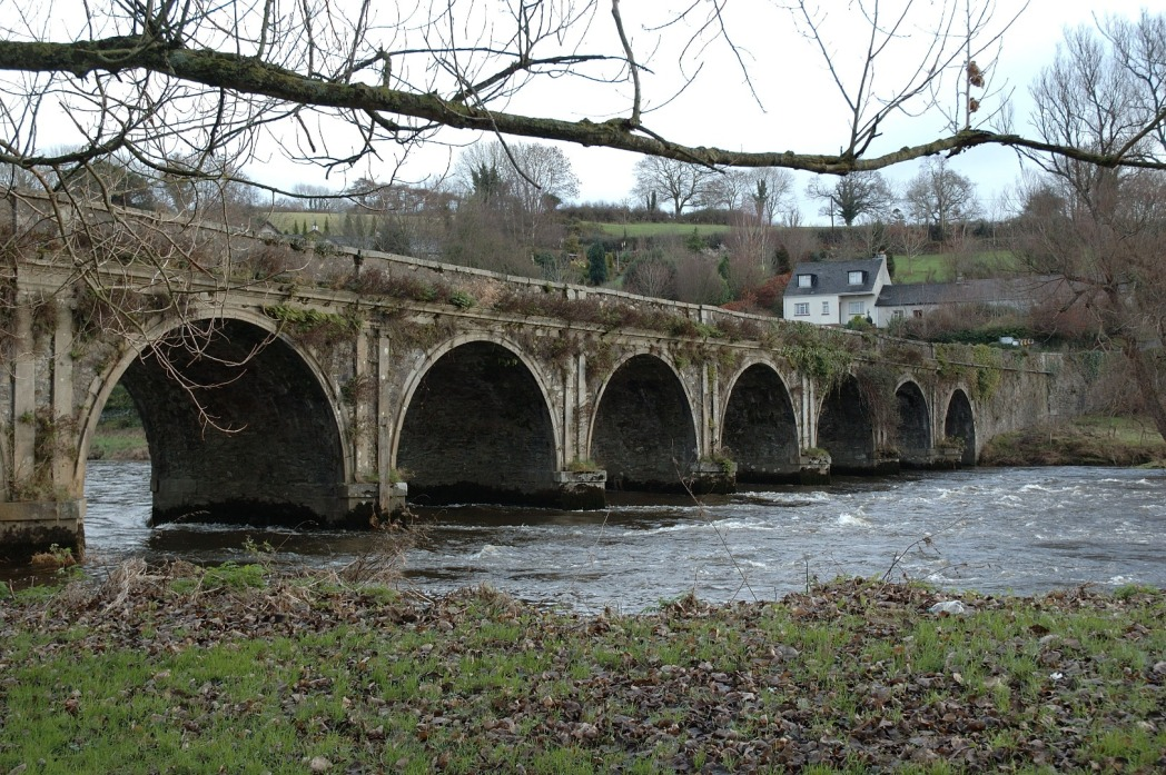 The 18th-century stone bridge on River Nore in Inistioge, Kilkenny