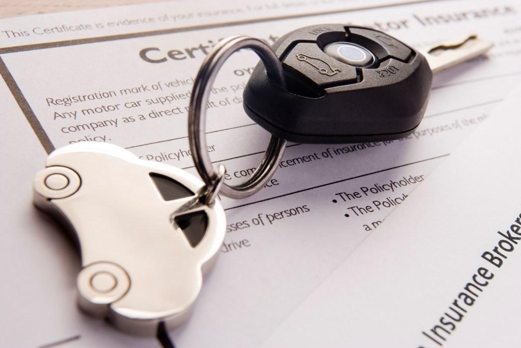 Car rental agreement and key