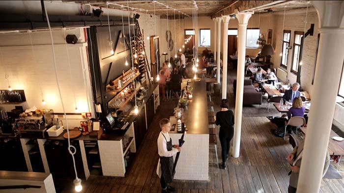 Timberyard bar and restaurant.