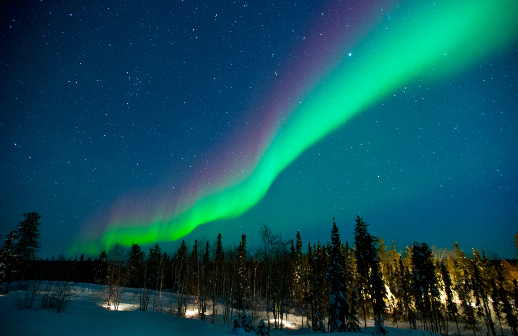 Rainbow Northern Lights in Yellowknife, Canada - best places to see the Northern Lights