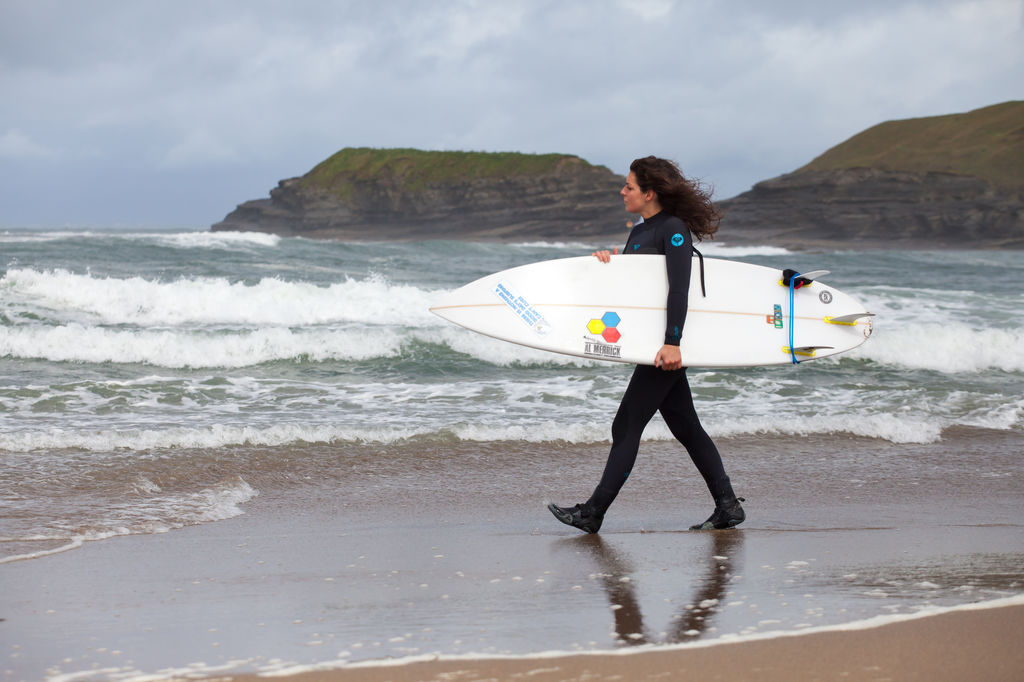 Surfing in Bundoran, County Donegal