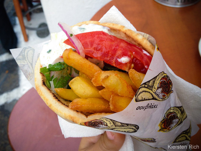 Late night or early morning, get a gyros at any time!