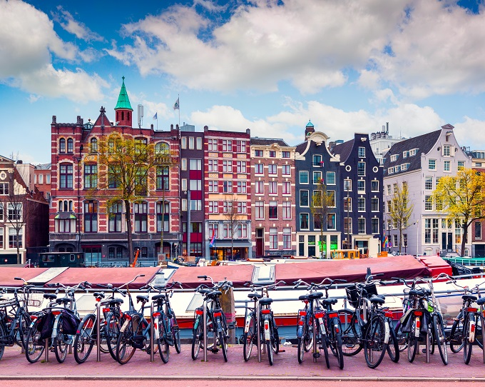 Houses along the canal, Amsterdam