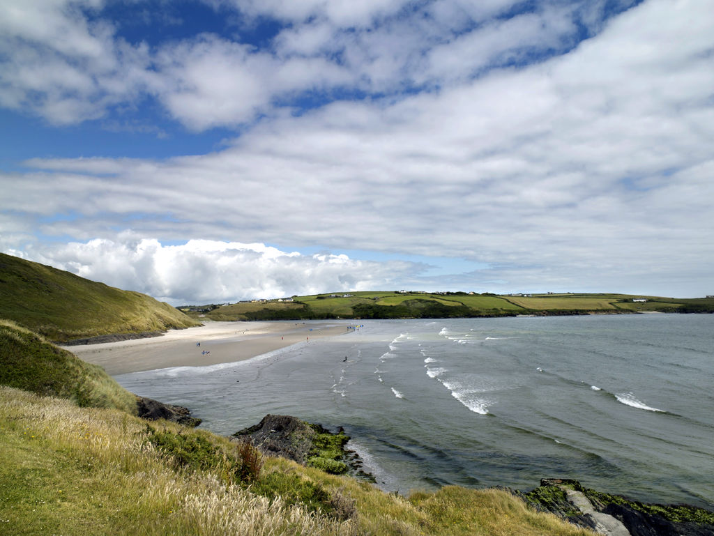 Inchydoney beach in Cork, one of Ireland's best surf spots