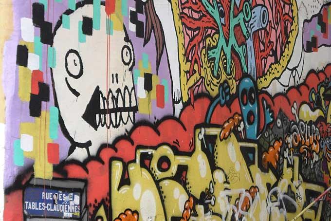 grafitti, Croix Rousse, Lyon