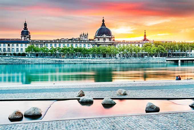 River Rhone, Lyon