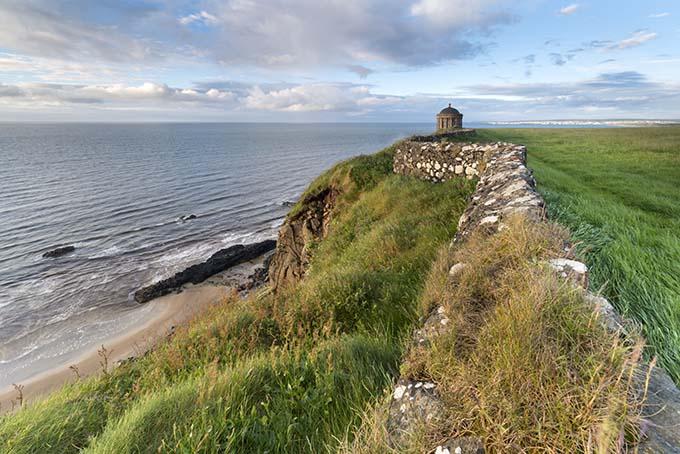 Green hill overlooking Downhill Beach, Northern Ireland