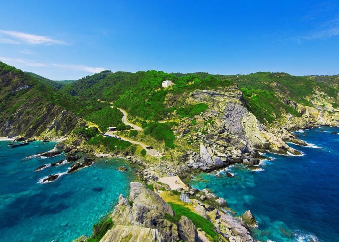 Skopelos, Greece, green hills, coast.