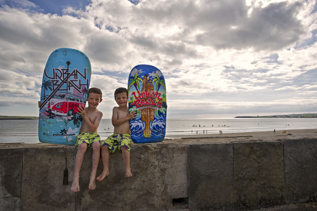 Surfing in Lahinch, County Clare