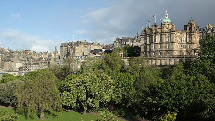 View of Old Town from Princes Street.